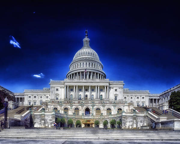 United States Poster featuring the photograph United States Capitol Building by Mountain Dreams