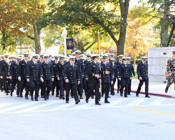 Annapolis Poster featuring the photograph United States Naval Academy In Annapolis Md - 121240 by DC Photographer