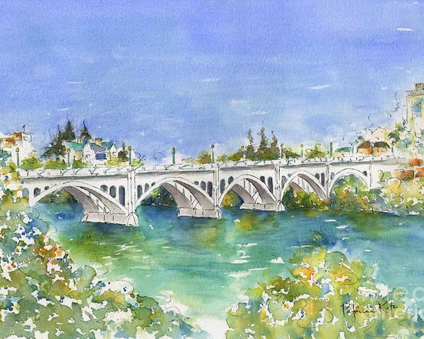 Impressionism Poster featuring the painting University Bridge by Pat Katz