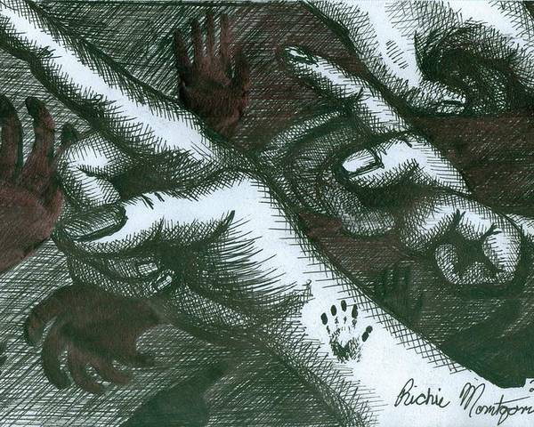 Hands Poster featuring the painting Untitled by Richie Montgomery
