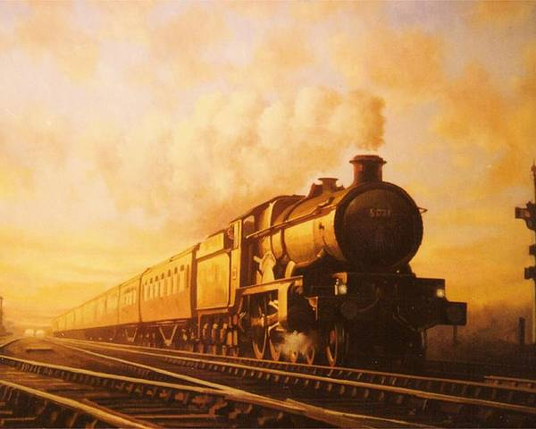 Castle Poster featuring the painting Up Express To Paddington by Mike Jeffries