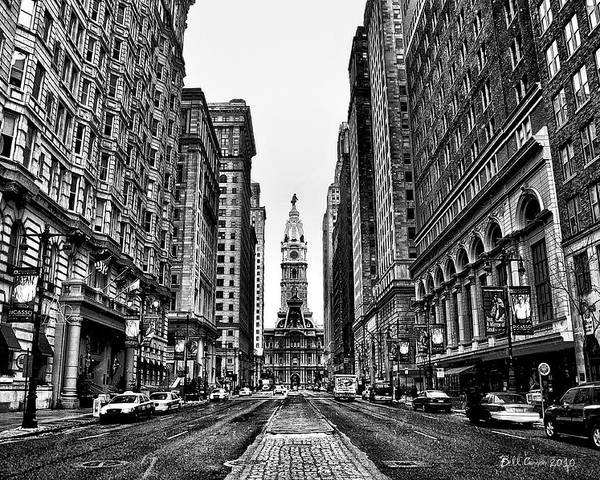 City Poster featuring the photograph Urban Canyon - Philadelphia City Hall by Bill Cannon