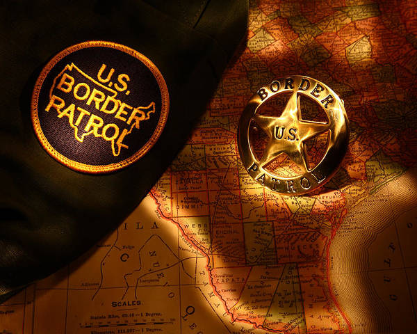 Us Poster featuring the photograph Us Border Patrol by Daniel Alcocer