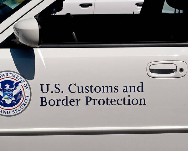 U.s. Poster featuring the photograph U.s. Customs And Border Protection by Tikvah's Hope