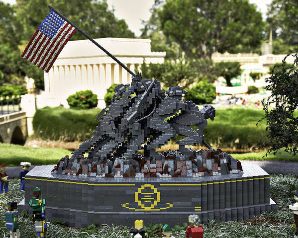United Poster featuring the photograph Us Marine Corps War Memorial by Ricky Barnard
