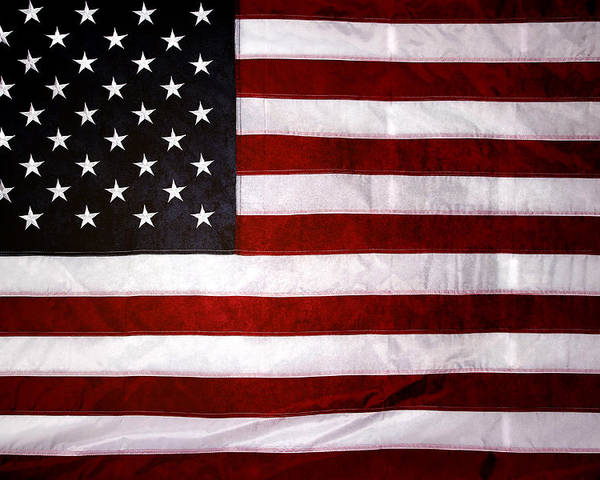 Flag Poster featuring the photograph USA by Les Cunliffe