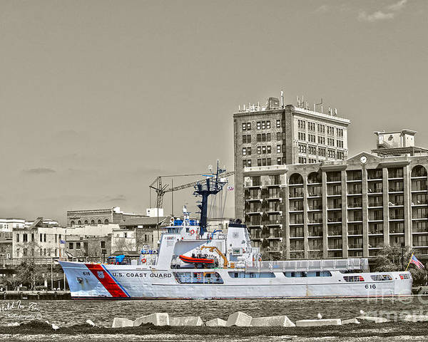 Wilmington Poster featuring the photograph Uscgc Diligence by Marie Kirschner