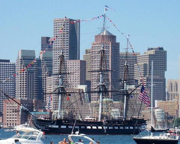 Ship Poster featuring the photograph Uss Constitution by Catherine Gagne