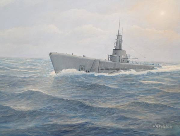 Submarines Poster featuring the painting USS Jallao by William Ravell