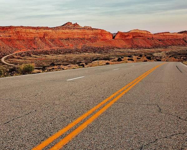Utah Poster featuring the photograph Utah Highway by Benjamin Yeager