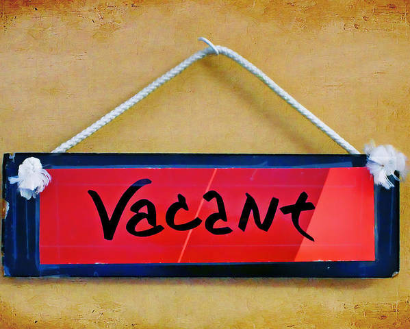 Vacant Poster featuring the photograph Vacant by Nikolyn McDonald