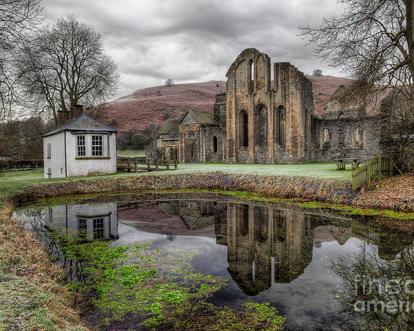 13th Century Poster featuring the photograph Valle Crucis Abbey by Adrian Evans