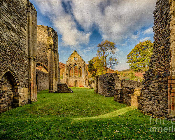 13th Century Poster featuring the photograph Valle Crucis Abbey Ruins by Adrian Evans