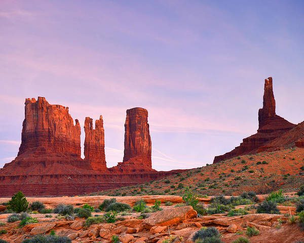 Valley Poster featuring the photograph Valley Of The Gods - A Oasis For The Soul by Christine Till