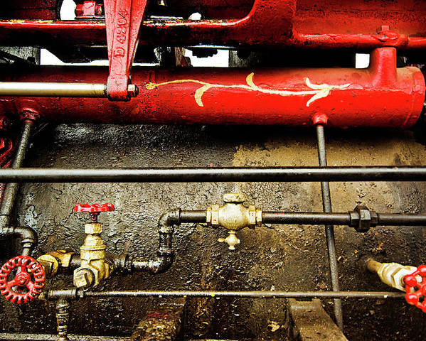 Valves Poster featuring the photograph Valves Lines And Tanks by Dale Stillman