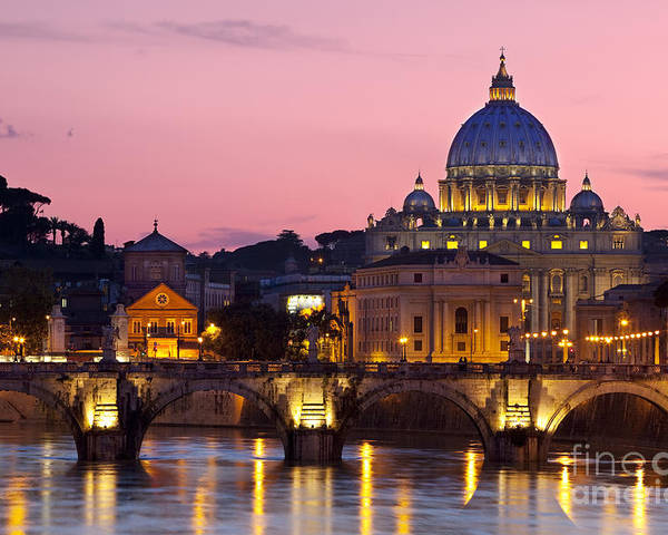 St Poster featuring the photograph Vatican Twilight by Brian Jannsen