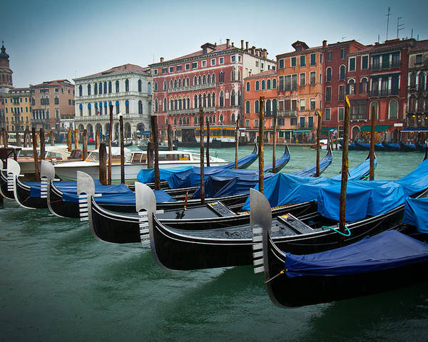 Venice Poster featuring the photograph Venice Boats by Simon Park