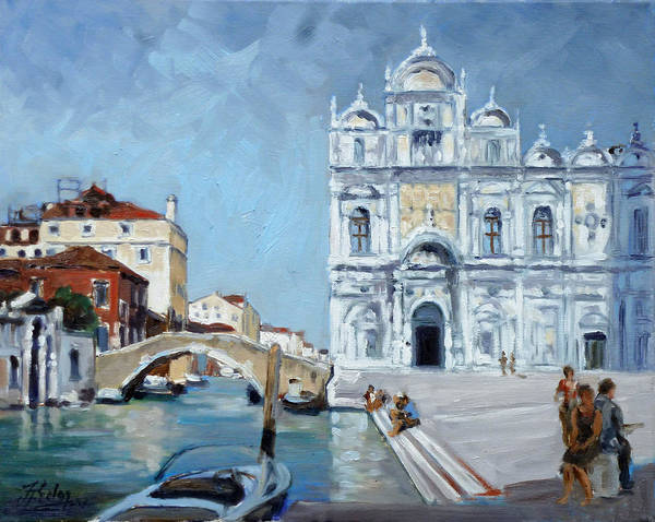 Venice Poster featuring the painting Venice - Scuola Di San Marco by Irek Szelag