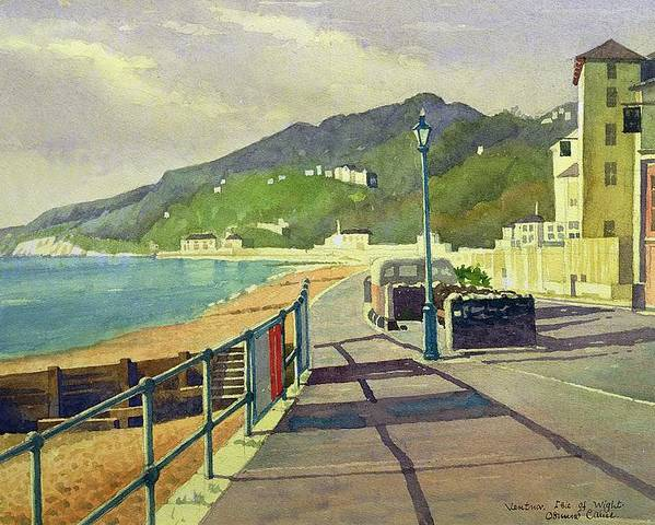 Seaside Poster featuring the drawing Ventnor, Isle Of Wight by Osmund Caine