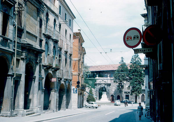 Vicenza Poster featuring the photograph Vicenza Italy 1962 by Cumberland Warden