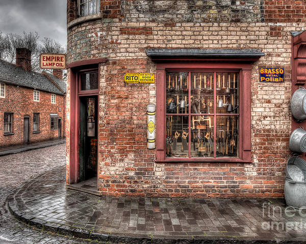 Architecture Poster featuring the photograph Victorian Corner Shop by Adrian Evans