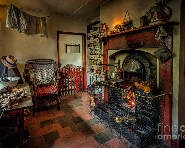 British Poster featuring the photograph Victorian Fire Place by Adrian Evans