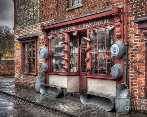 Architecture Poster featuring the photograph Victorian Hardware Store by Adrian Evans