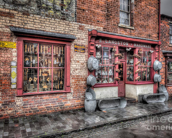 British Poster featuring the photograph Victorian Stores England by Adrian Evans