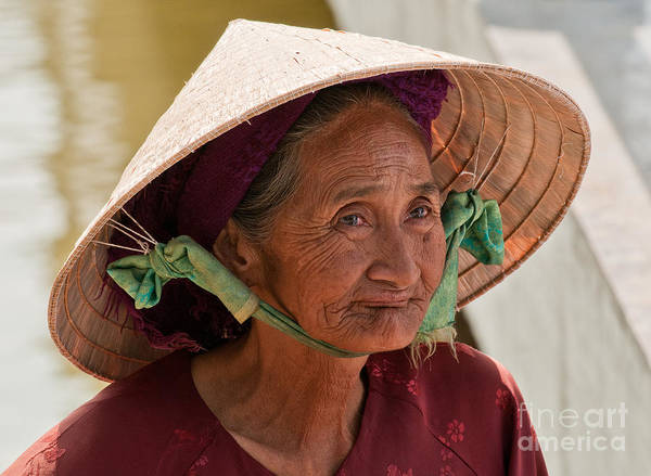 Vietnam Poster featuring the photograph Vietnamese Lady by Rick Piper Photography