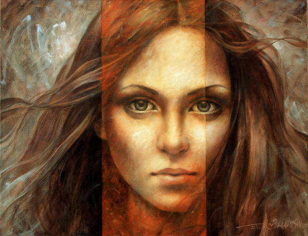Portrait Poster featuring the painting View Of Eternity by Arthur Braginsky