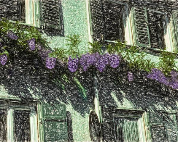 Purple Poster featuring the digital art View Of Purple by Patti Parish