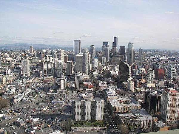 Seattle Poster featuring the photograph View Of Seattle by Mel Duncan