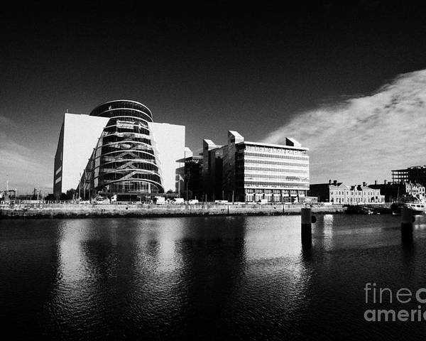View Poster featuring the photograph View Of The River Liffey And The Convention Centre Dublin Republic Of Ireland by Joe Fox