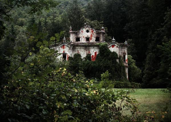 Haunted Poster featuring the photograph Villa De Vecchi by Laura Melis