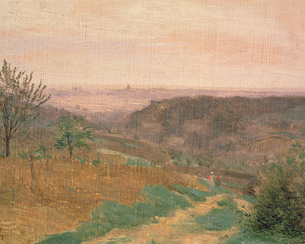 Landscape Poster featuring the painting Ville Davray, Hauts-de-seine by Jean Baptiste Camille Corot