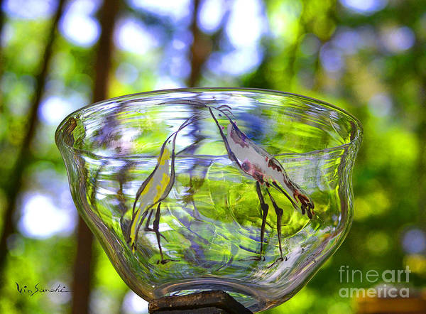 Nature Poster featuring the glass art Vinsanchi Glass Art-4 by Vin Kitayama