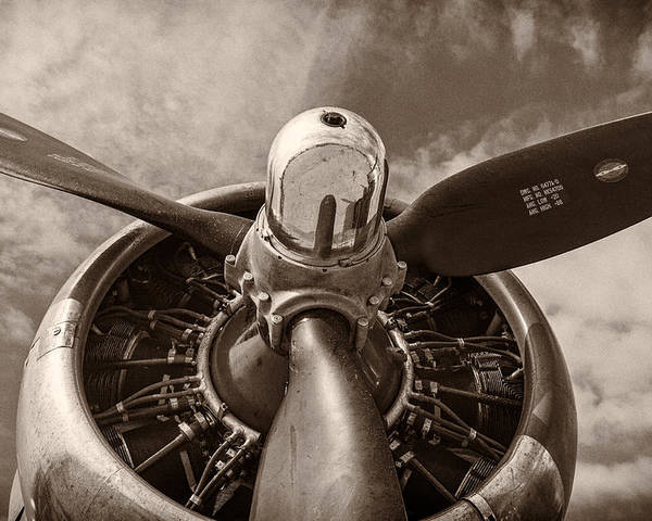 3scape Photos Poster featuring the photograph Vintage B-17 by Adam Romanowicz