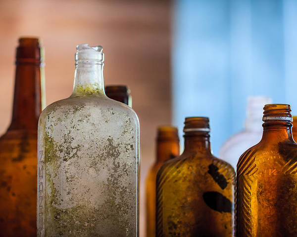 3scape Photos Poster featuring the photograph Vintage Bottles by Adam Romanowicz