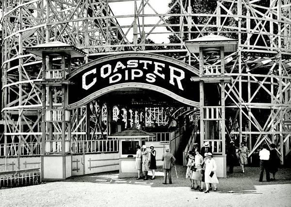 Roller Coaster Poster featuring the photograph Vintage Coaster by Benjamin Yeager