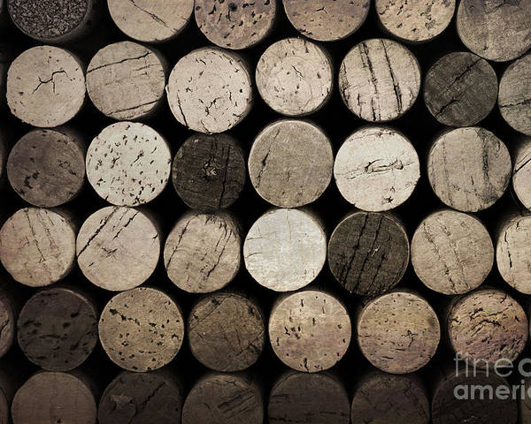 Alcohol Poster featuring the photograph Vintage Corks by Jane Rix