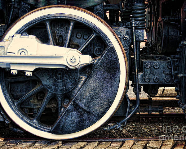 Locomotive Poster featuring the photograph Vintage Drive Wheel by Olivier Le Queinec