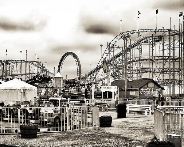 Vintage Funtown Poster featuring the photograph Vintage Funtown by John Rizzuto