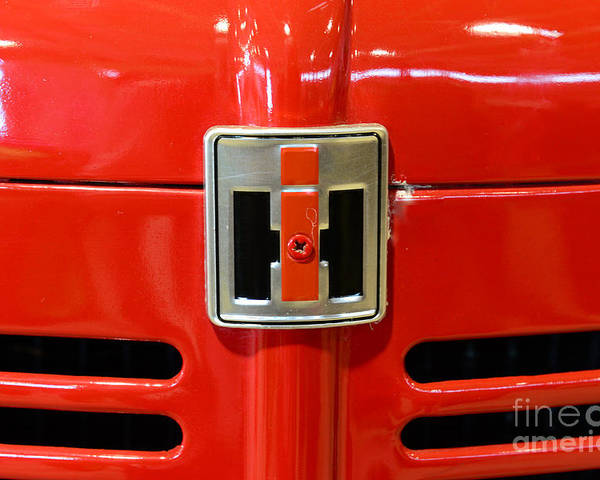 Paul Ward Poster featuring the photograph Vintage International Harvester Tractor Badge by Paul Ward