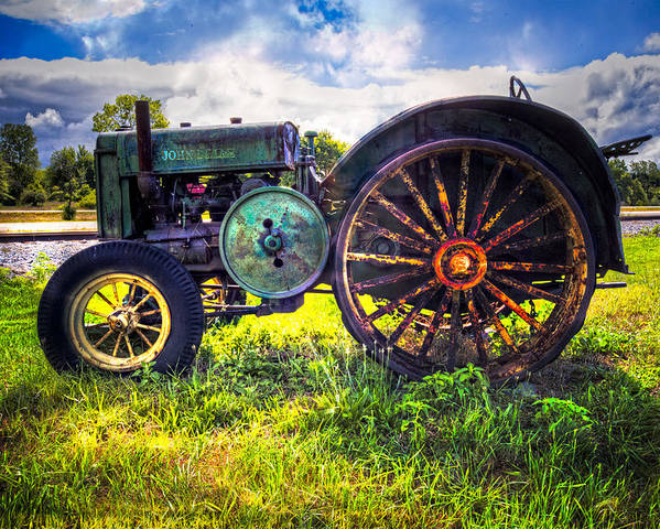 Appalachia Poster featuring the photograph Vintage John Deere by Debra and Dave Vanderlaan