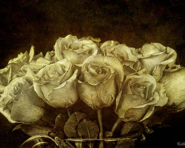 Bouquet Poster featuring the photograph Vintage Roses by Keith Gondron