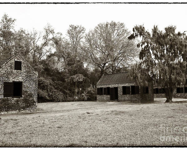 Vintage Slave Quarters Poster featuring the photograph Vintage Slave Quarters by John Rizzuto