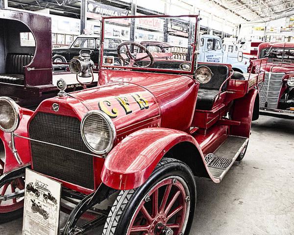 Vintage Studebaker Fire Engine Poster featuring the photograph Vintage Studebaker Fire Engine by Douglas Barnard