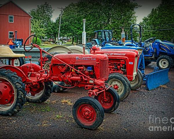 Paul Ward Poster featuring the photograph Vintage Tractors by Paul Ward