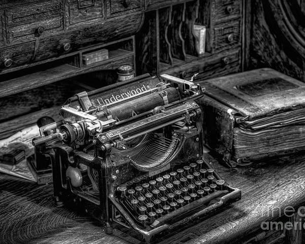 Typewriter Poster featuring the photograph Vintage Typewriter by Adrian Evans