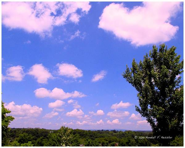 Clouds Poster featuring the photograph Violet Edge by Kendall Kessler